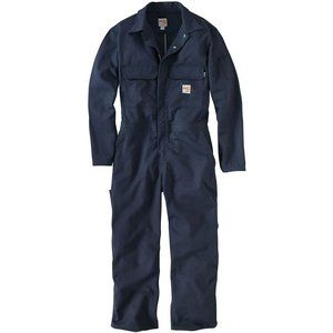 carhartt flame resistant navy twill coveralls